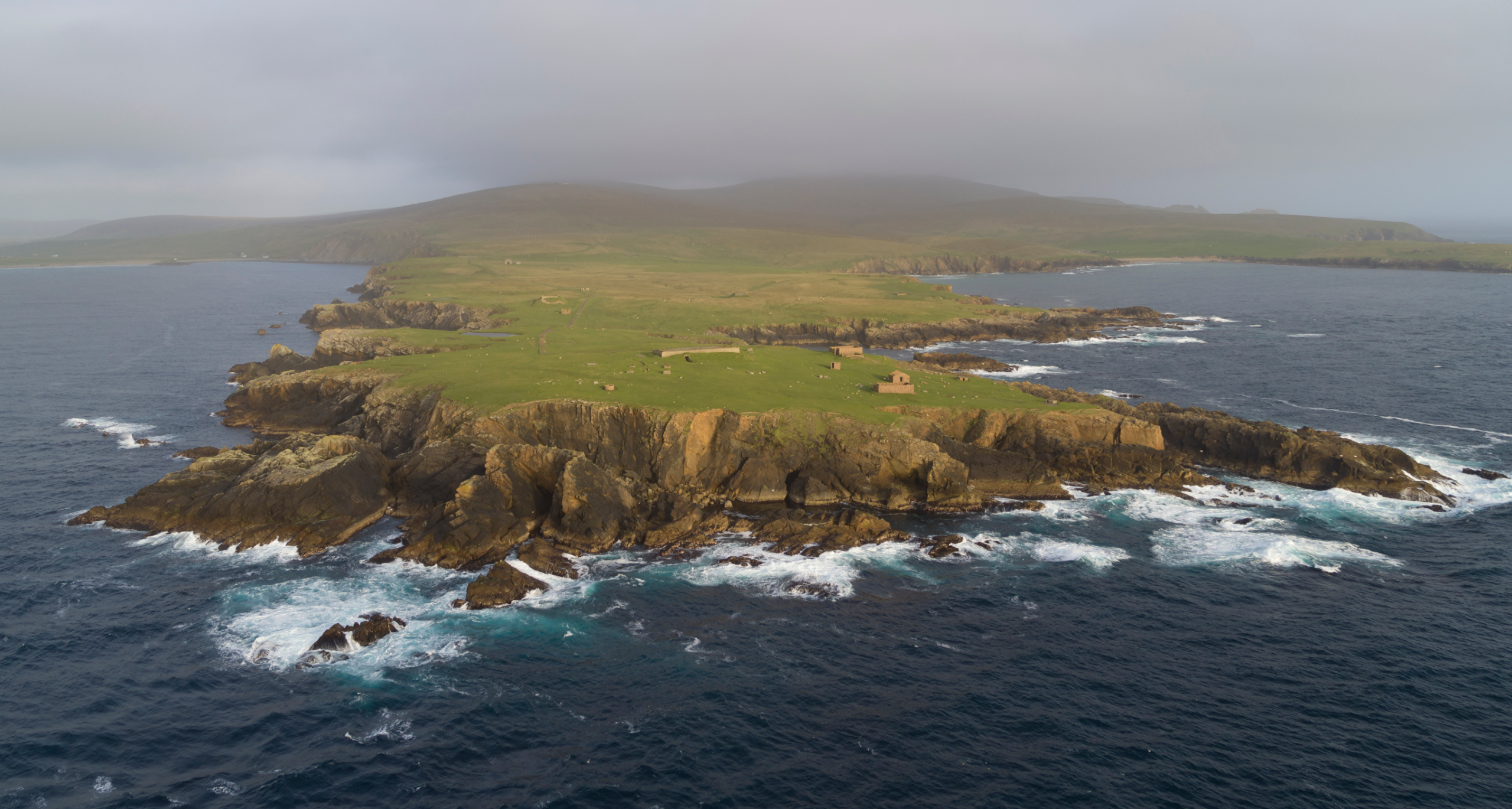 The site of the proposed Shetland Space Centre