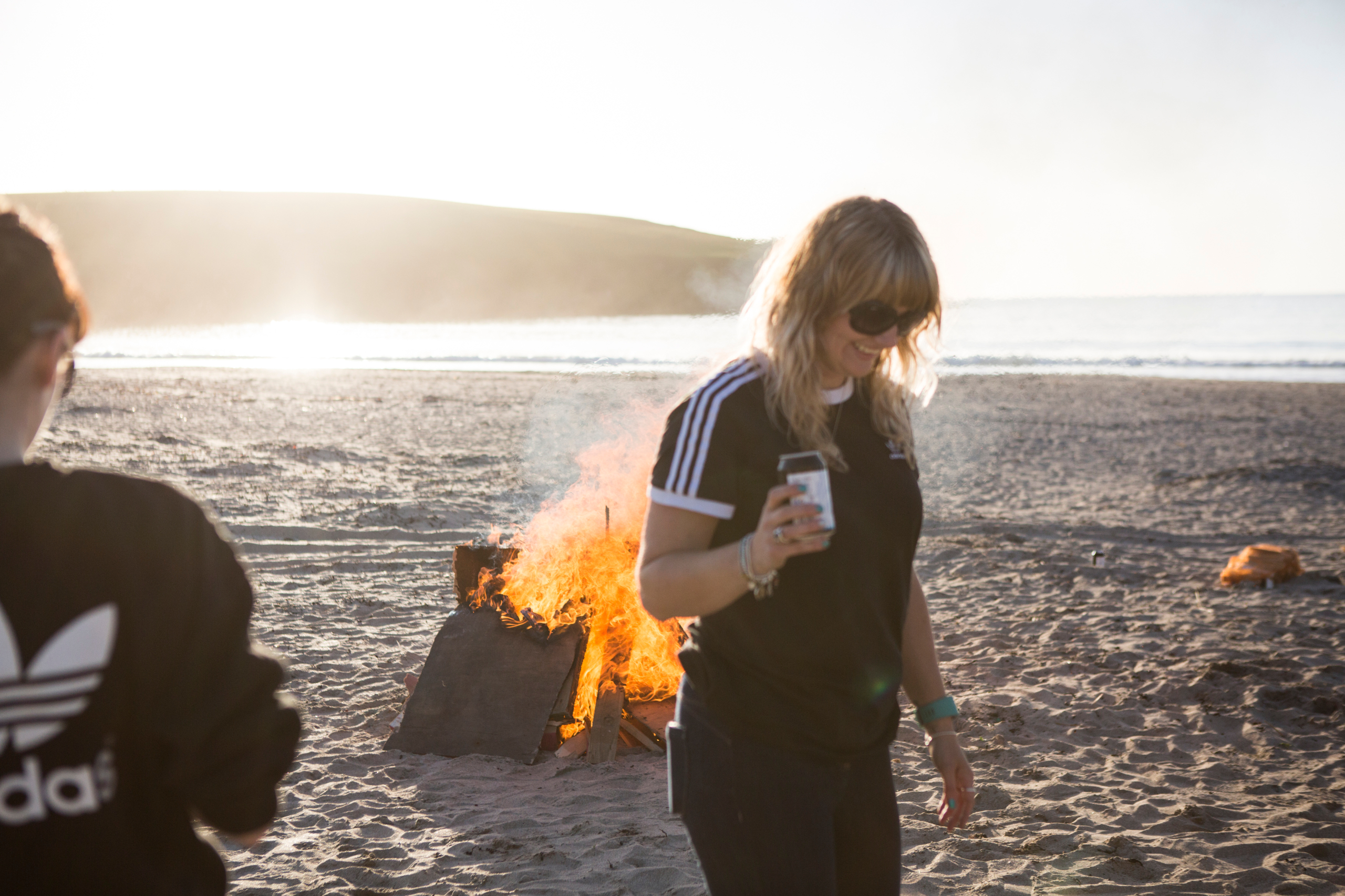 Sophie on the beach at St Ninian's | River Thompson