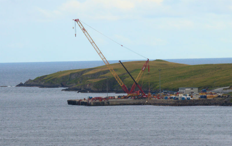 The decommissioning base at Dales Voe, Lerwick (Courtesy Alastair Hamilton)