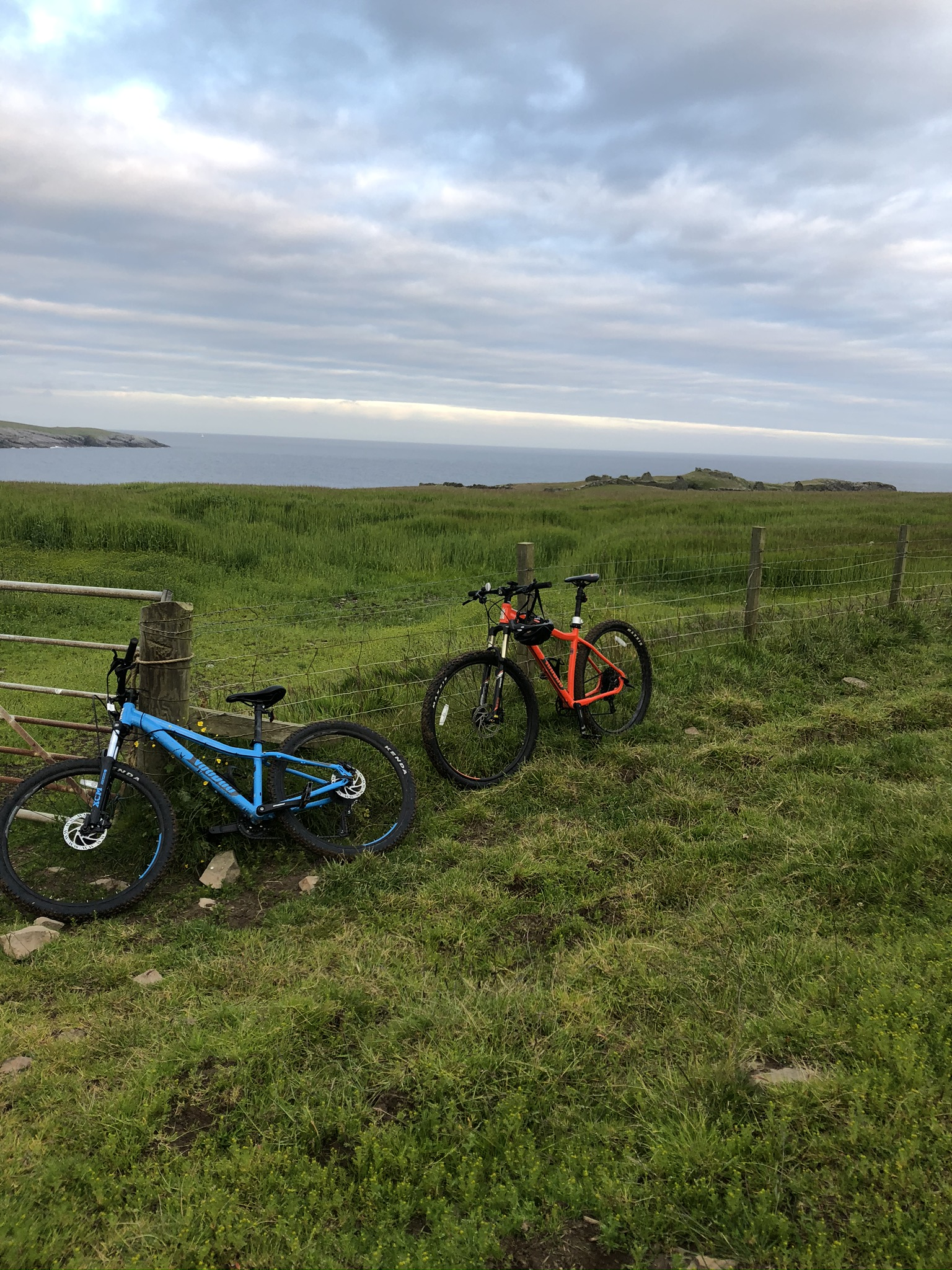 Bikes parked up for the last part of the walk to Burland Broch. Photo by Laurie Goodlad
