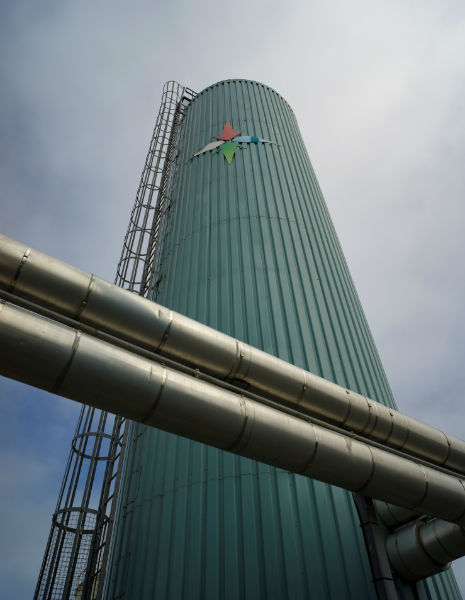 The hot water storage tank (Courtesy SHEAP)