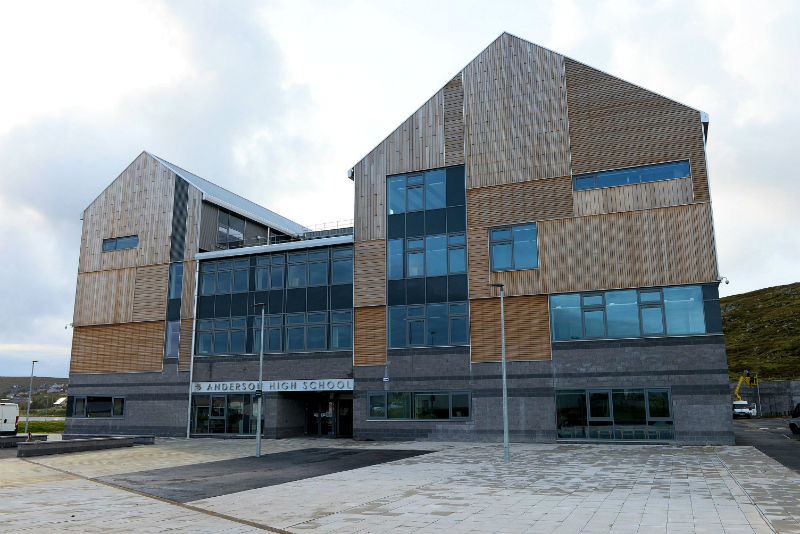 The Anderson High School is one of the public buildings connected to the district heating system (Courtesy Alastair Hamilton)