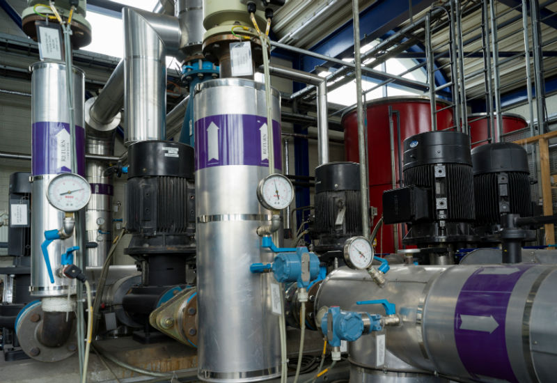 Some of the equipment in the Peak Load Boiler Station (Courtesy SHEAP)