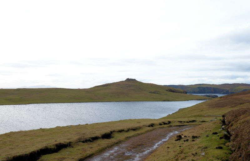 For most of the way to Culswick Broch, there's a good track (Courtesy Alastair Hamilton)