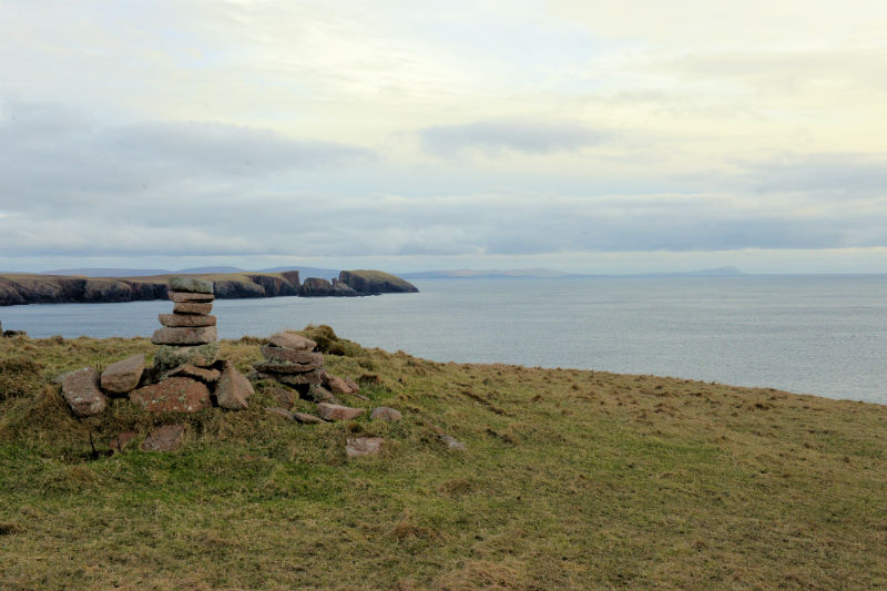 The view to the south takes in all of Shetland's south Mainland, all the way to Fitful Head (Courtesy Alastair Hamilton)