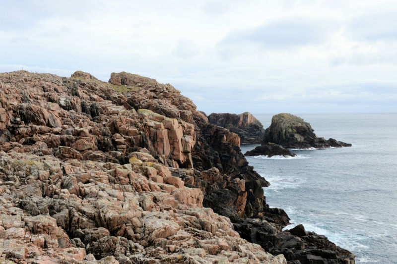 'Rugged' hardly does justice to the coastline near Culswick Broch (Courtesy Alastair Hamilton)