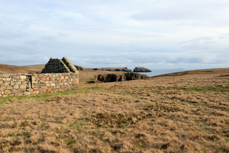 A house at Sotersta. It's possible that stones from the Broch of Culswick were used in its construction (Courtesy Alastair Hamilton)