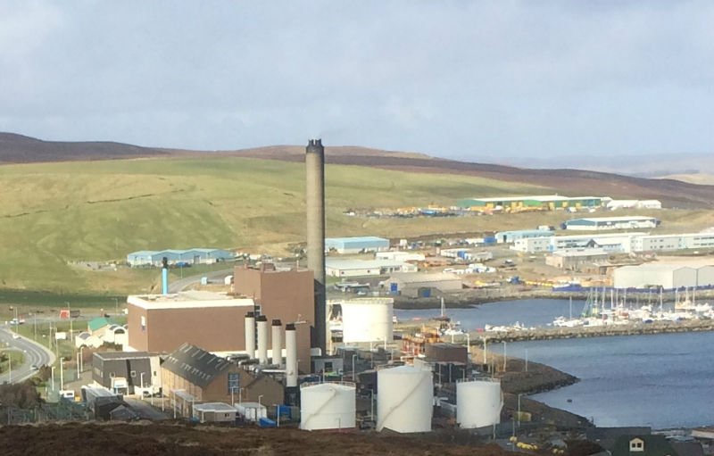The oil-fired Lerwick Power Station is the main source of Shetland's electricity (Courtesy Alastair Hamilton)