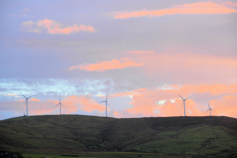 Burradale Wind Fram, near Lerwick (Courtesy Alastair Hamilton)