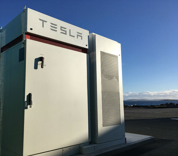 The Tesla power pack installed at Bluemull Sound (Courtesy Nova Innovation)