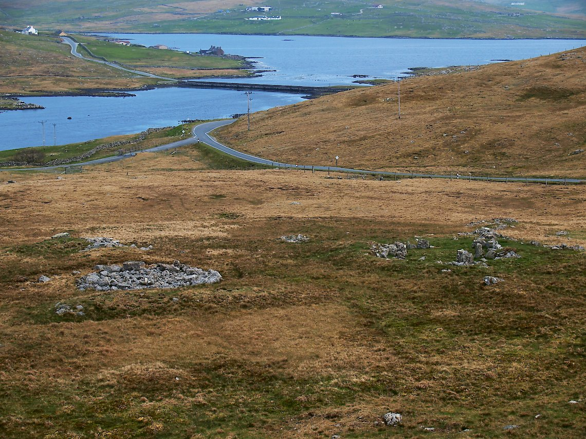 The road from Sandness joins the Walls-Lerwick road at Bridge of Walls (Courtesy Promote Shetland)